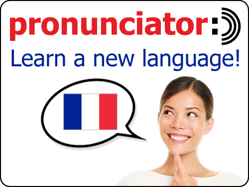 pronunciator learn a new language logo